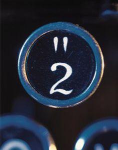 Typewriter. Number 2. CaribouInspires.com
