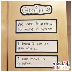 Learning Goals & Success Criteria for Graphing in Kindergarten Math Activities For Kids, Preschool Math, Math Classroom, Teaching Math, Classroom Ideas, Numeracy Activities, Movement Activities, Math Games, Physical Activities