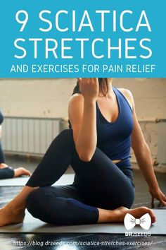 9 Sciatica Stretches and Exercises for Pain Relief Are you experiencing back pain What do you do to deal with it Sciatica might be causing it Try these stretches to help relieve sciatic nerve pain painrelief exercises backpain sciaticnervepain # Yoga For Sciatica, Sciatica Stretches, Sciatica Pain Relief, Sciatic Pain, Back Pain Relief, Knee Stretches, Sciatic Nerve Exercises, Flexibility Stretches, Low Back Stretches
