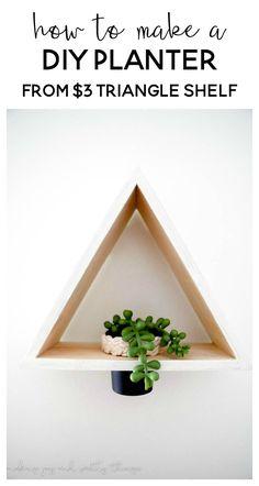 DIY Triangle Shelf P