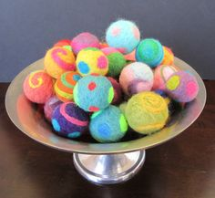 Needle Felted Cat Toy Ball - One ball.