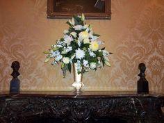 Tall mantel arrangement