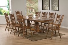 Brooks Trestle Table Dining Room Set | Coaster Furniture | Home Gallery Stores