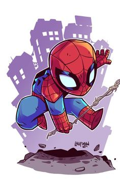 Adorable Spider-Man by spiderman spidermanfarfromhome marvel tomholland tom wallpaper peterparker nyc queens newyork web spiderweb cute adorable Marvel Comics, Chibi Marvel, Flash Comics, Marvel Heroes, Marvel Avengers, Chibi Spiderman, Spiderman Marvel, Peter Spiderman, Spiderman Drawing