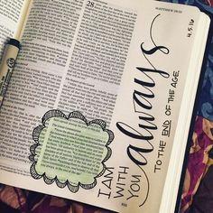 Image result for matthew 28:20 bible journaling