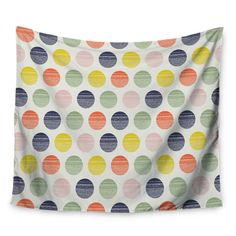 "East Urban Home Rainbow Dots by Gukuuki Wall Tapestry Size: 60"" H x 80"" W"