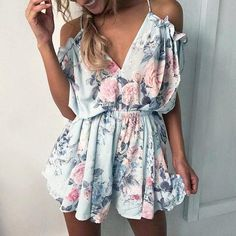 eb6632912ad New Sexy Summer Women Jumpsuit Floral Print Sleeveless Beach Overalls  Playsuit Elegant Ruffle Rompers Womens Jumpsuit