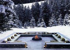 luxury swiss hotel the chedi andermatt hotel ski resort switzerland Andermatt, Diy Fire Pit, Fire Pit Backyard, Backyard Patio, Fire Pits, Outdoor Fire, Outdoor Seating, Outdoor Living, Outdoor Decor