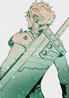 Final Fantasy Cloud, Final Fantasy Artwork, Final Fantasy Vii Remake, Fantasy Series, Pokemon Starters, Anime Life, Cloud Strife, Lovers Art, Art Sketches