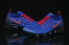 cc85382e489 Nike Air VaporMax Flyknit 2.0 OW 2018 Navy Blue Red Men Shoes Movement  Fitness