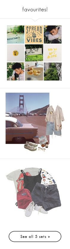 """""""favourites!"""" by byelovers ❤ liked on Polyvore featuring art, Retrò, Levi's, Johnny Was, Converse, Eres, American Apparel, JanSport, NIKE and Vision"""