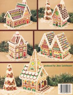 Plastic Canvas Gingerbread Village 02                                                                                                                                                                                 More