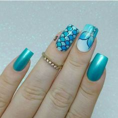 Mermaid Nails Inspiration: 35 Mermaid Nail Art Designs Add some inspiration from under the sea to your next manicure with mermaid nails. Take a peek at some of our favorite mermaid nail art designs. Cute Nail Art, Cute Acrylic Nails, Perfect Nails, Gorgeous Nails, Nail Art Designs, Mermaid Nail Art, Nagellack Design, Nails For Kids, Kids Manicure