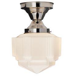 Hollywood Small Semi-Flush Mount Art Deco Flush Ceiling Fixture A5960