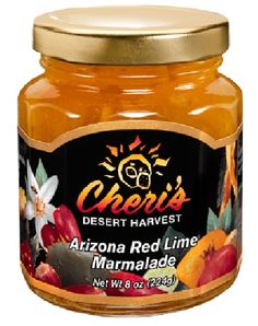Arizona Red Lime Marmalade - Another name for Arizona Red Lime is Rangpur Lime, a fruit that looks like a reddish-orange tangerine with the deliciously tart flavor of a lime, which yields a refreshingly flavorful marmalade.  8 oz. Jar. $12.95. Cheri's Desert Harvest. Southwest Candy. Cactus Candy. Cactus Jelly.