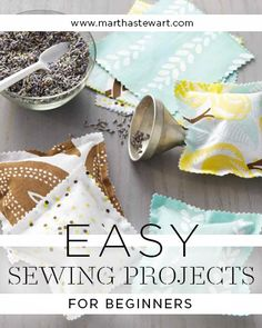 Easy Sewing Projects for Beginners | Martha Stewart Living - Coasters with contrasting stitching pop when placed on a smaller-check gray gingham tablecloth, turned into oilcloth with iron-on vinyl.