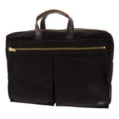Porter Dual Briefcase. Ref : 634-06309. Size : W410xH300xD60. Color : Black , Brown.