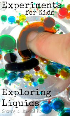Exploring liquid science | Exploring with oil and water is a simple and fun experiment kids love.