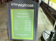 Waitrose - Knightsbridge Thursday, Wednesday, Sunday, Domingo