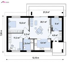 A contemporary cottage with two bedrooms and an open, functional 785 sq ft layout!