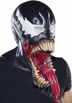 fd95685209549 Deluxe Venom Costume Mask Adult Amazing Spider-man Villain Spiderman   fashion  clothing
