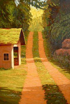 by Adam Noonan Canadian Painters, Canadian Artists, Landscape Art, Landscape Paintings, Victoria Bc Canada, Illustrations, Plein Air, Amazing Art, Contemporary Art