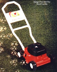 1985 Fisher Price bubble mower. What a mess with bubble juice everywhere.