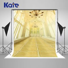 Kate Indoor Wedding Backdrop Square Tiles Windows Curtains and Chandelier Wedding Photo Large Size Seamless Photo