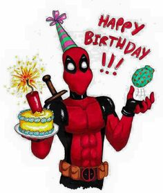 Another small birthday present. This one is for who really loves Deadpool. Can't really say I'm a Deadpool fan, I don't know enough about him but f. Deadpool for Dakka Deadpool Happy Birthday, Happy Birthday Boy, Happy Birthday Pictures, Happy Birthday Messages, Happy Birthday Quotes, Birthday Images, Birthday Greetings, Funny Birthday, Birthday Message For Friend
