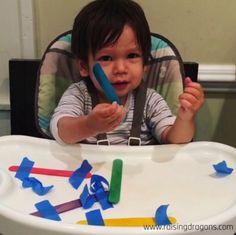 Craft Sticks & Tape * 2 & Under ⋆ Raising Dragons