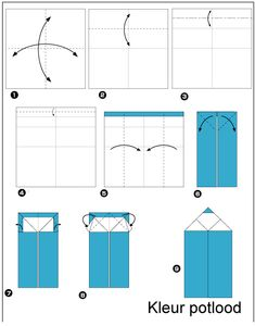 origami-potlood vouwen