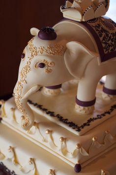 Asian Indian Elephant Wedding Cake