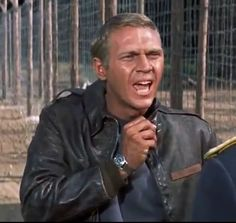 """New Eastman Leather Clothing """"Escape"""" Steve Mcqueen, Eastman Leather, Leather Flight Jacket, Mc Queen, Stylish Mens Fashion, The Great Escape, Famous Movies, Common Sense, Classic Hollywood"""