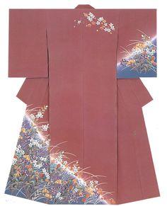 """kagayuzen: """" Kaga-Yuzen Kimono (Homongi) Setsuko Nakai """""""