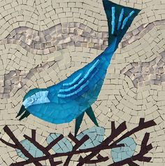 A new range of bird themed mosaics just completed | Sue Kershaw ...