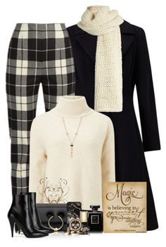"""Cream and Black"" by sugerpop ❤ liked on Polyvore featuring John Lewis, MaxMara, I Love Mr. Mittens, Miss Selfridge, J.W. Anderson, Casetify, Dolce&Gabbana, Chanel, Lacey Ryan and Yves Saint Laurent"