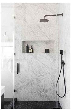 Modern Bathroom Design, Bathroom Interior Design, Modern House Design, Home Design, Design Ideas, Bath Design, Marble Interior, Modern Interior, Modern Decor