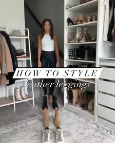 Date Outfits, Chic Outfits, Dress Outfits, Winter Fashion Outfits, Look Fashion, Womens Fashion, Leather Leggings, Clothing Hacks, Mode Hijab