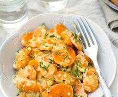 Carottes vichy : Recette de Carottes vichy - Marmiton Vegetable Recipes, Food Inspiration, Shrimp, Side Dishes, Special Occasion, Good Food, Vegan, Vegetables, Cooking
