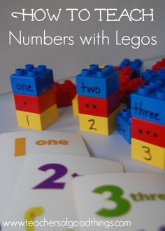 How to Teach Numbers with Legos is a hands-on learning box that makes learning number recognition and counting fun and exciting. | www.teachersofgoodthings.com
