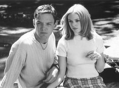 Still of Matthew Lillard and Rose McGowan in Scream (1996)