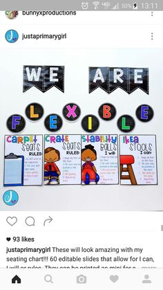 Love these flexible seating charts