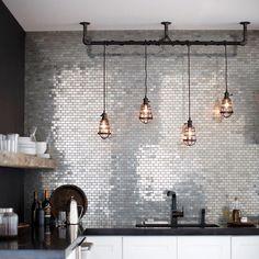 Cool Light Aged Bronze Cage Pendant Lighting #LightBulb #LightFixture #Pulley…