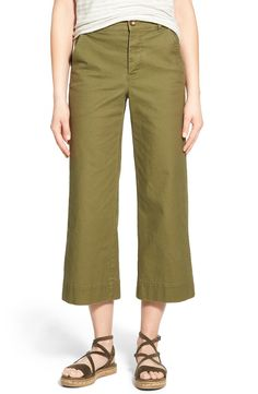 Madewell 'Langford' Wide Leg Crop Pants available at #Nordstrom