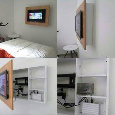 75 space saving ideas to make your tiny living area seem much bigger Compact Living, Tiny Living, Living Area, Extra Storage Space, Storage Spaces, Small Apartments, Small Spaces, Built In Cabinets, Cabinet Doors