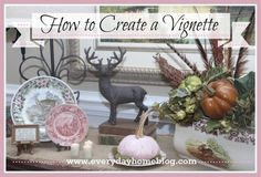 consider scale, texture, color & adding twigs to make florals taller - by The Everyday Home