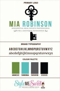 Custom Logo Design For Mia Robinson
