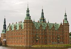 Frederiksborg Castle in North Zealand, Denmark.
