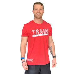 Train in Godliness Tee (Vintage Red) - XL