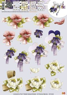 3d Sheets, Annie, 3 D, Floral Wreath, Scrapbooking, Printables, Paper, Flowers, Cards